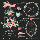 Chalkboard Birdcage Wedding Flowers