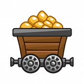 Mine cart with gold.