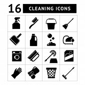 Set Icons Of Cleaning