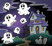 Haunted house theme image 4 - eps10 vector illustration.