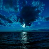moon light over dark water