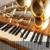 Jazz Background Piano Trumpet And Guitar