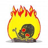 cartoon burning old bones