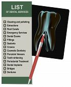 Llist Of Dental Services