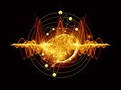 foto of quantum  - Abstract concept of quantum waves illustrated with fractal elements - JPG