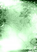 Grunge Background Green