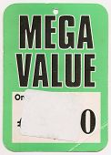Mega Value label