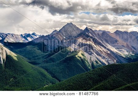 Scenic View Of Rocky Mountains