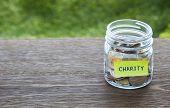 Charity Donation Money Glass Jar