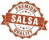 Salsa Brown Grunge Seal Isolated On White