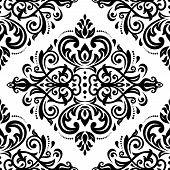 Damask Seamless  Pattern. Orient Background