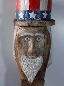 Uncle Sam Folk Art Carving