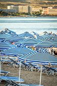 Summer Vacations - Sun Ubrellas Under The Hot Sun