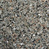 Concrete mixed with stone chippings