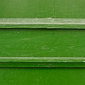 Painted wooden fence fragment