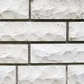 White limestone brick wall's fragment