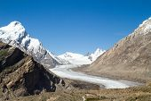 Glacier And Mountains Panorama