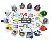 Social Media Social Networking Connection Global Concept