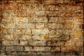 Background of Brick Wall Texture in grunge style