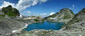 Wildsee Lake In Switzerland Alps, Pizol Mountain