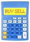 Calculator With Buy Sell