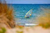 mediterranean beach in summer