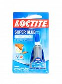 Hayward, CA - January 13, 2015: Bottle of Loctite SUPER GLUE Gel Control in packing