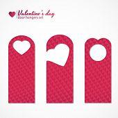 Set of three valentines day themed door hangers