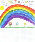 Children Drawing Mothers Day