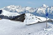 Skiing Resort In The Alps. Austria