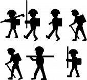 WALKERS man, side, hiking, white, person, walker
