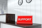 Support Sign Plate 3D Render Interior