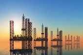 picture of rework  - Oil production into the sea - JPG