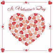 St Valentine's Day postcard