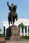 Statue Of Amir Temur In Tashkent - Uzbekistan