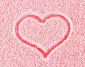 Snowy warm heart