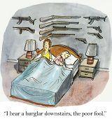Burglar Downstairs
