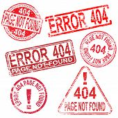 stock photo of not found  - 404 Error page not found stamps - JPG