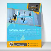 Professional business one page template, flyer or corporate banner.