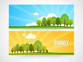 Website banner or header design for vacations.