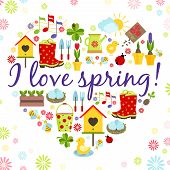 heart spring background
