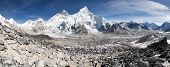 Evening Panoramic View Of Mount Everest From Kala Patthar
