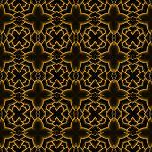 Orange Black Cross Seamless Background