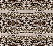 Brown Colors Ethnic Pattern