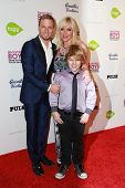 LOS ANGELES - JAN 29:  Brian Littrell, Leighanne Littrell at the