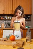 child portrait in the home kitchen