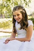 picture of communion  - Little Girl in her First Communion Day - JPG