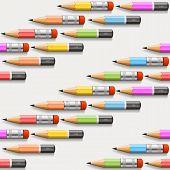Pencils background seamless