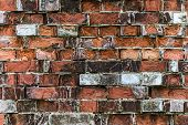 Very Old Red Brick Wall