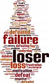 picture of underdog  - Loser word cloud - JPG